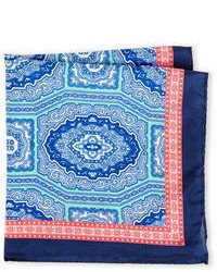 Pal Zileri Silk Medallion Print Pocket Square