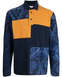 Etro Patchwork Jersey Polo Shirt