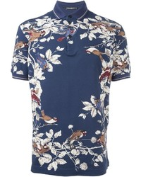 992dfb28 Men's Navy Print Polos by Dolce & Gabbana | Men's Fashion ...