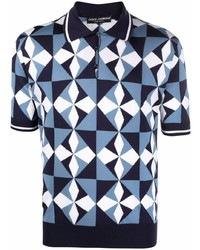 Dolce & Gabbana Geometric Pattern Polo Shirt