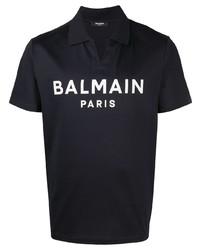 Balmain Logo Print Polo Shirt