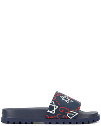 bffb17de6 Men's Navy Sandals by Gucci | Men's Fashion | Lookastic.com