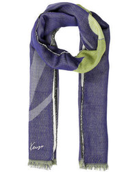 Kenzo Abstract Printed Scarf