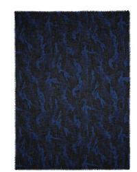 Valentino Camupsychedelic Print Cashmere Silk Scarf