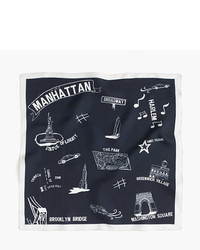 J.Crew Destination Italian Silk Scarf In Manhattan Print