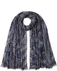 Dot print scarf with cashmere medium 805943