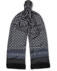 Dolce & Gabbana Fringed Printed Silk Twill Scarf