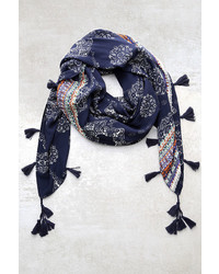 LuLu*s Fun And Games Navy Blue Print Scarf