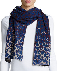 Lanvin Leopard Print Cold Weather Scarf