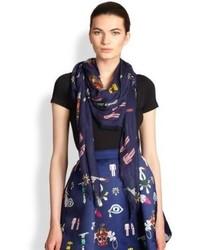 Mary Katrantzou Mixed Print Modal Cashmere Scarf