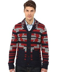 Lucky Brand Intarsia Shawl Collar Sweater