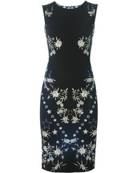 Navy Print Sheath Dress