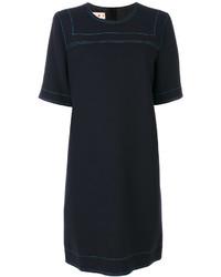 Marni Contrast Stitch Shift Dress