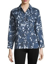 Burberry Posy Printed Bib Shirt