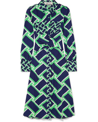 Diane von Furstenberg Jeri Printed Cotton Midi Dress