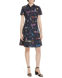 Tory Burch Scalloped Edge Shirtdress