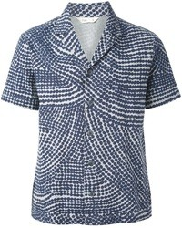 Navy Print Short Sleeve Shirt