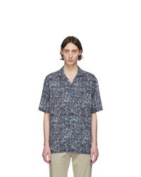 Z Zegna Blue Cracked Check Shirt