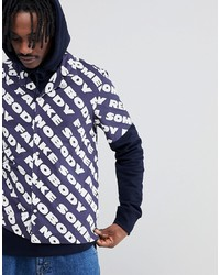 Wood Wood Brandon Shirt With All Over Somebody Print