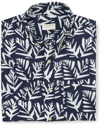 Club Monaco Short Sleeve Leaves Shirt