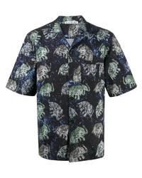 Acne Studios Elephant Print Short Sleeve Shirt
