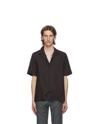 Paul Smith Navy And Pink Polka Dot Short Sleeve Shirt