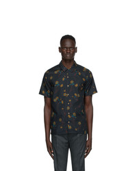 Ps By Paul Smith Navy Floral Casual Shirt
