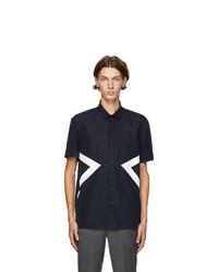 Neil Barrett Navy Modernist Short Sleeve Shirt