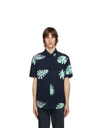BOSS Navy Ronn Short Sleeve Shirt