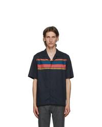 Paul Smith Navy Striped Short Sleeve Shirt