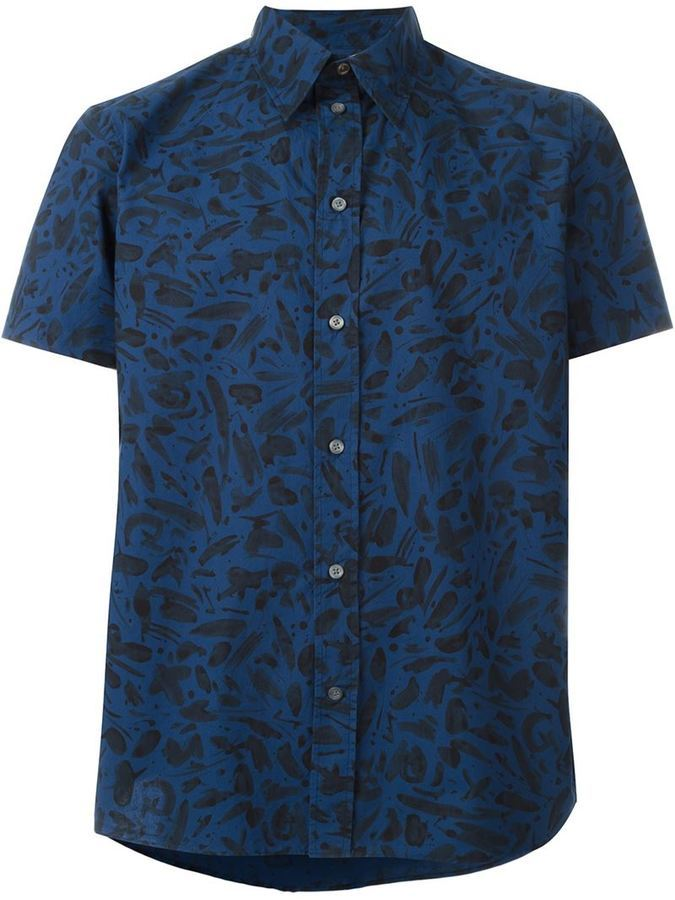 Paul Smith Jeans Printed Shortsleeved Shirt