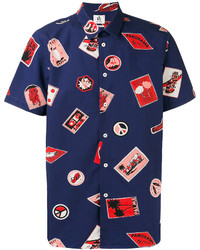 Paul Smith Ps By Short Sleeve Printed Shirt