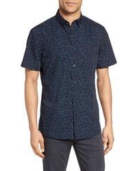 Shop slim fit dot print sport shirt medium 5208199