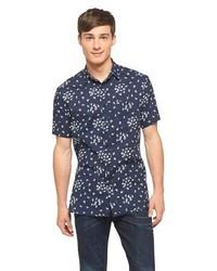 Mossimo Supply Co Short Sleeve Bird Print Shirt Navy