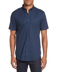 Textured dash print short sleeve shirt medium 5208195