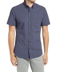 Nordstrom Men's Shop Trim Fit Arrow Print Short Sleeve Button Up Shirt