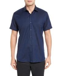 Trim fit print sport shirt medium 3681463