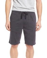 Drawstring print knit shorts medium 605986