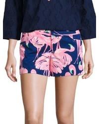 Lilly Pulitzer Ellie Flamingo Print Shorts