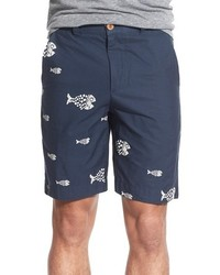 Engineer nautical print poplin shorts medium 563179