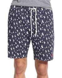Obey Tyler Sailboat Print Cotton Shorts