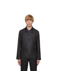 Maison Margiela Navy Silk Slim Fit Shirt