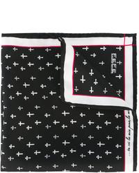 fe-fe Fef Printed Crosses Pocket Square