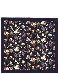 Eton Flower Printed Silk Pocket Square