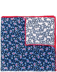 Kiton Paisley Print Pocket Square
