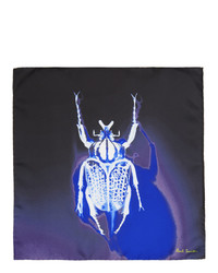 Paul Smith Navy Silk Photographic Beetle Pocket Square