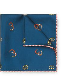 Gucci Printed Silk Twill Pocket Square