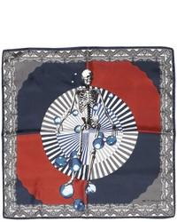 Etro Skelton Printed Silk Satin Pocket Square