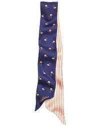 Brooks Brothers Small Tie Flamingo Scarf