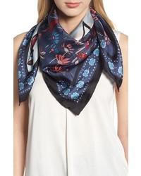 2a4db8767f93 Navy Print Silk Scarves for Women   Women s Fashion   Lookastic.com